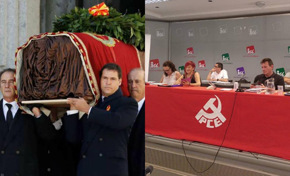 La acusación del Partido Comunista a La Sexta por proponer un montaje brindando por la exhumación de Franco