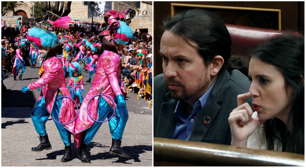 El disfraz de carnaval que no gustará a Irene Montero y Pablo Iglesias