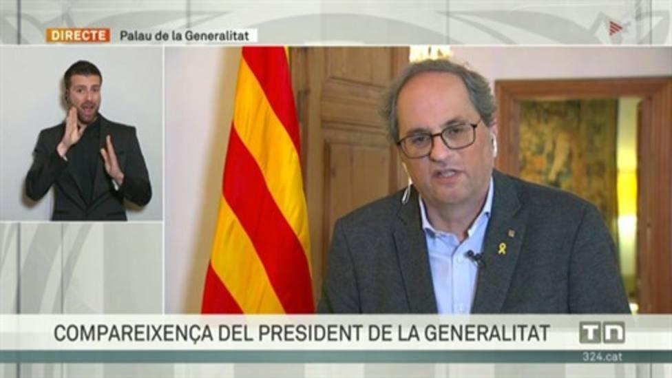 Torra envía a Sánchez su plan de desconfinamiento y le pide recuperar competencias de forma inmediata