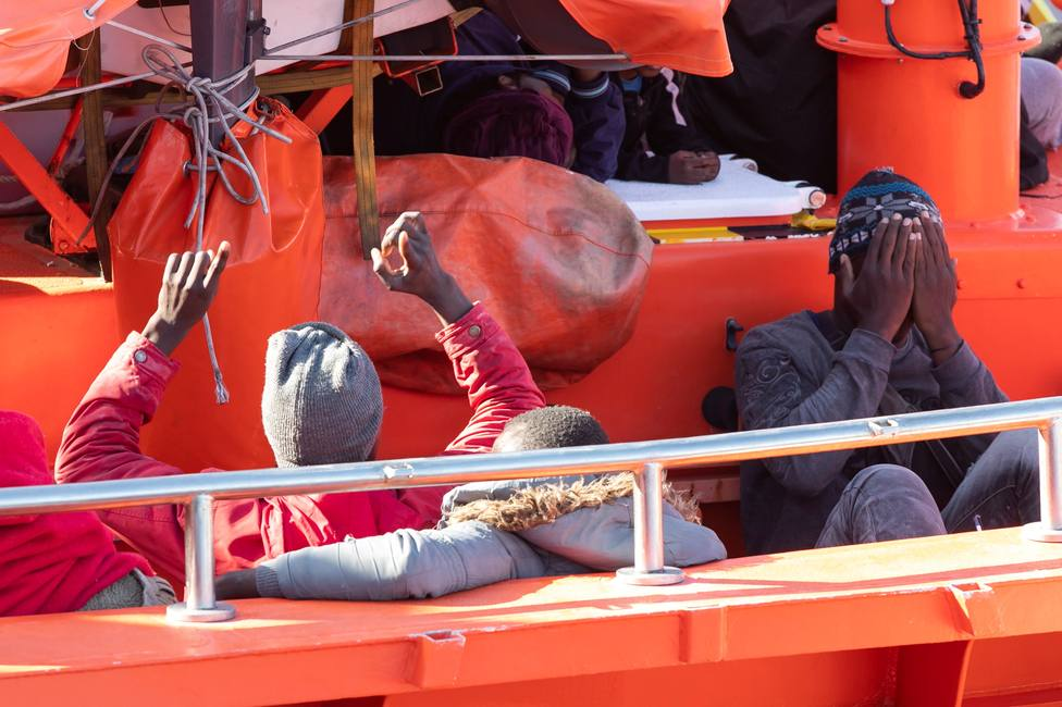 Salvamento rescata a Inmigrantes en Gran Canaria