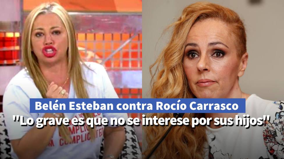 Belén Estaban le canta las cuarenta a Rocío Carrasco: Lo grave es que no se interese por sus hijos