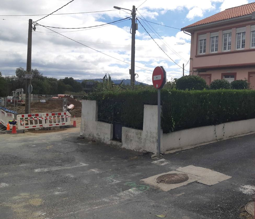 Corte al tráfico a partir de mañana en Camiño do Lodairo y la calle Bergantiños - FOTO: Concello Narón