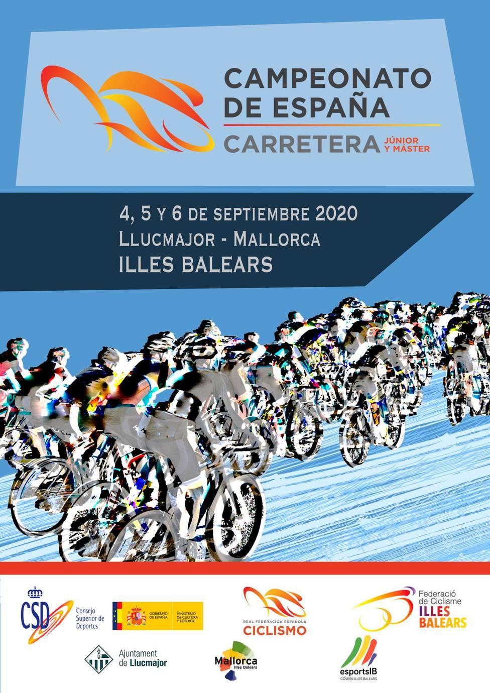 Cartel del Campeonato de España Junior y Máster 2020