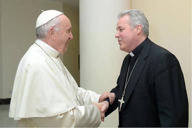 El Papa saluda a Iceta