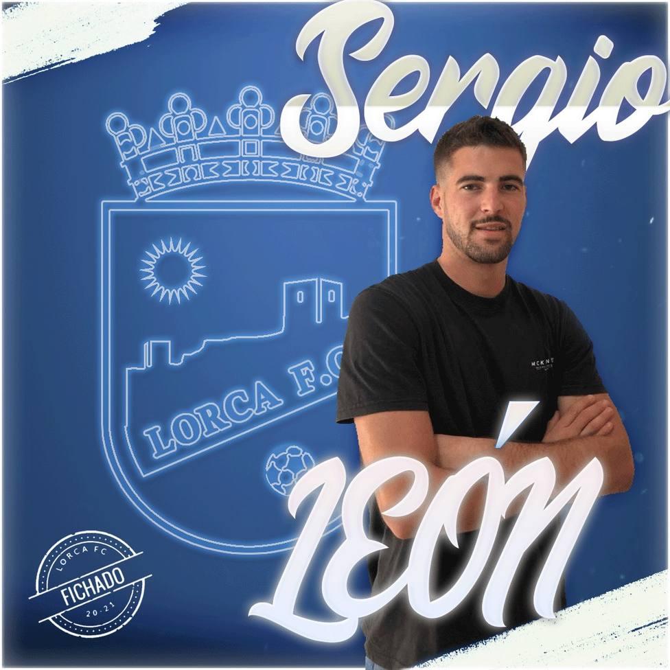 Sergio León, incorporación sorpresa en el Lorca FC