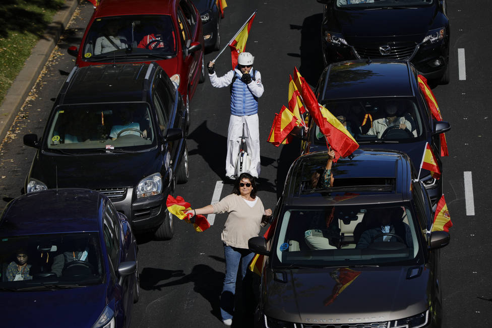Manifestación de Vox contra el Gobierno el Día de la Fiesta Nacional