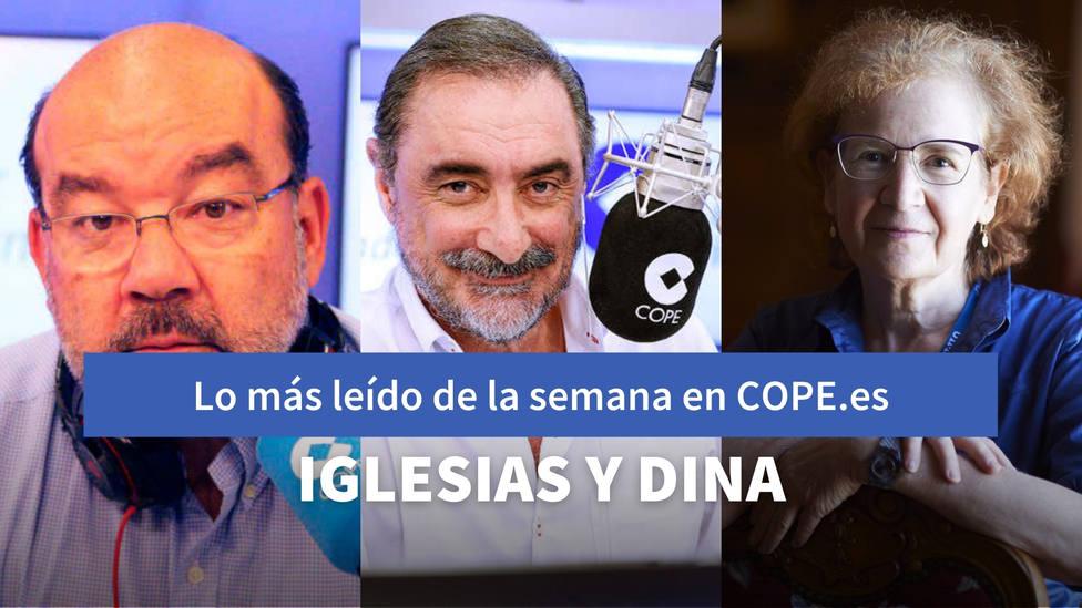 Herrera desvela el motivo que tranquiliza a Iglesias con Dina, entre lo más leído de esta semana