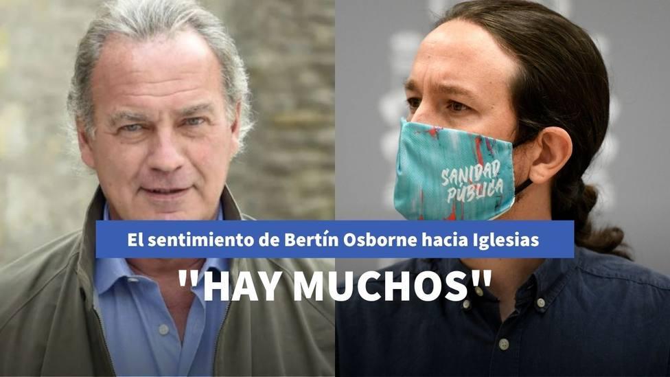Bertín Osborne retrata a Iglesias con el sentimiento que le provoca su gestión en el Gobierno de Sánchez