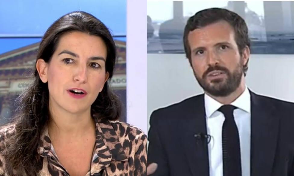 Rocío Monasterio y Pablo Casado