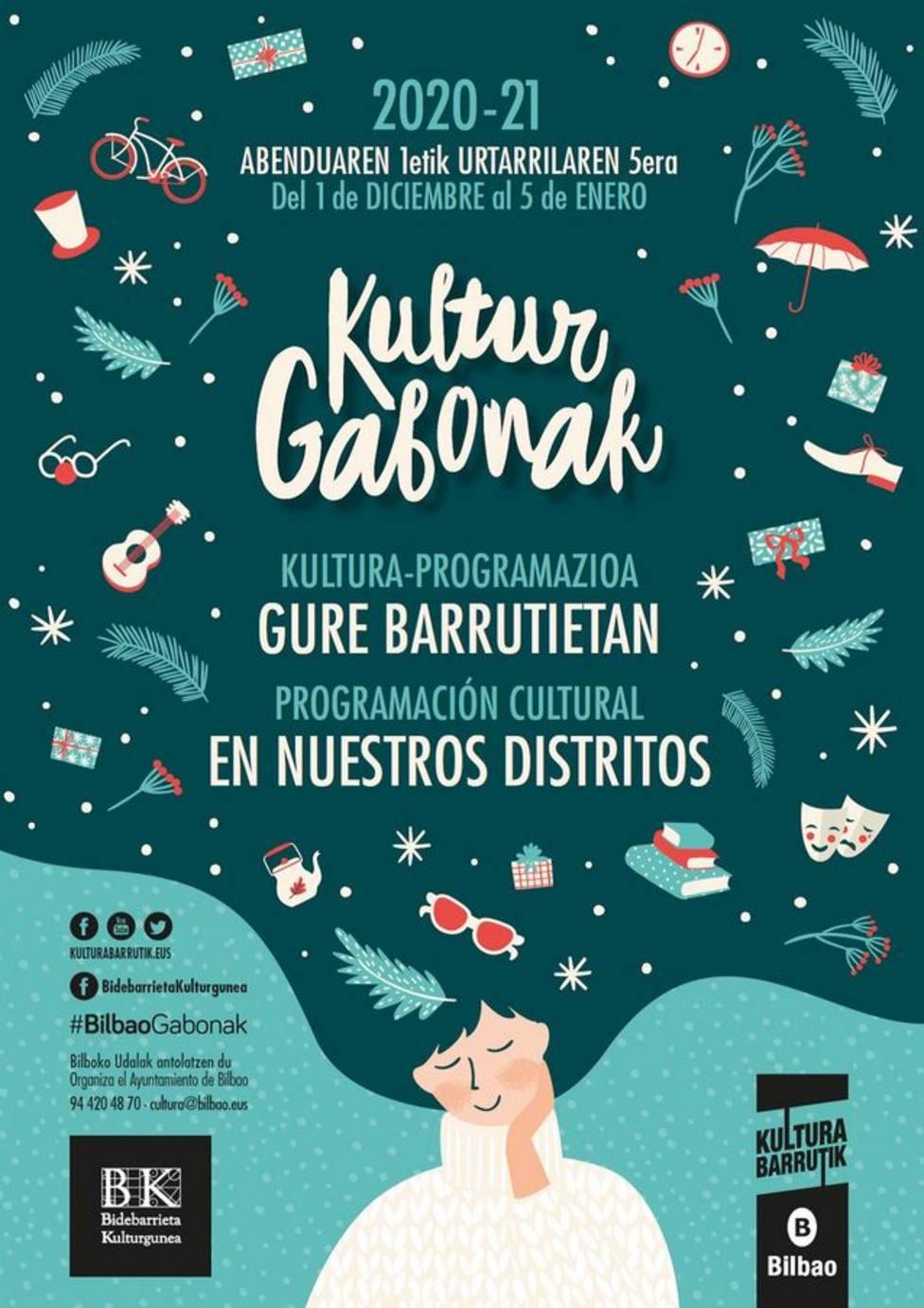 Cartel de la campaña BilbaoGabonak