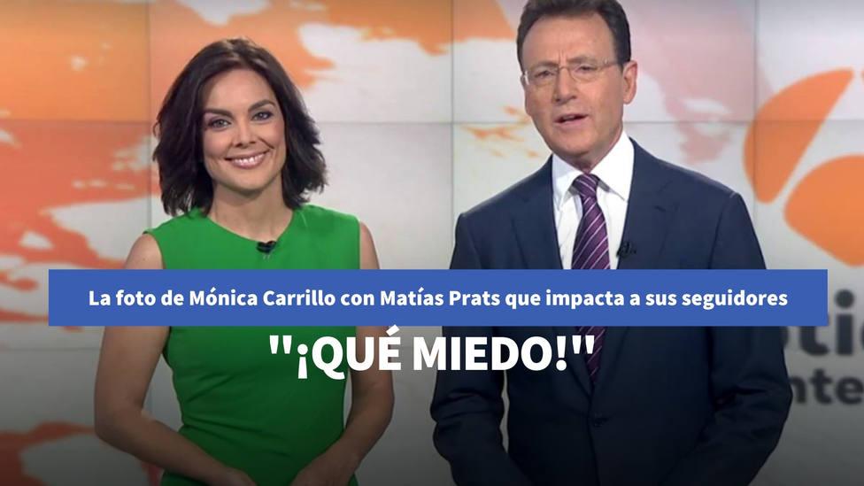 La foto de Mónica Carrillo con Matías Prats para resumir 2020 que impacta a sus seguidores: Qué miedo