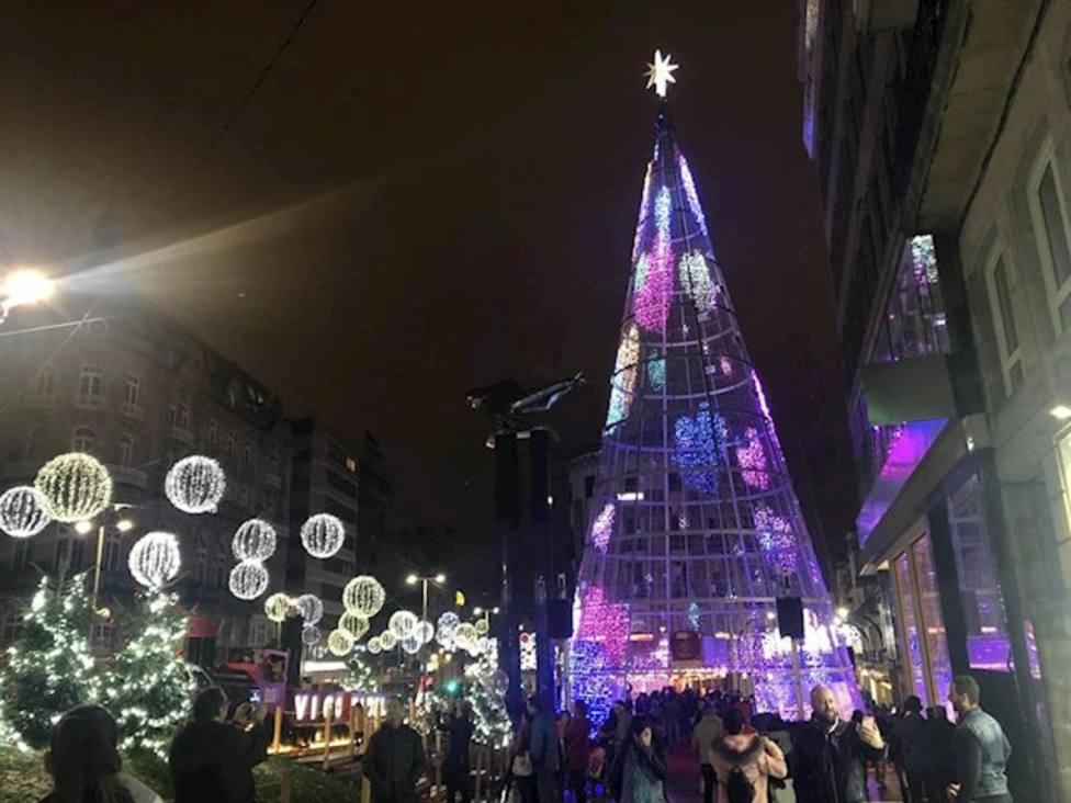 Navidad en Vigo en 2019, antes de la pandemia