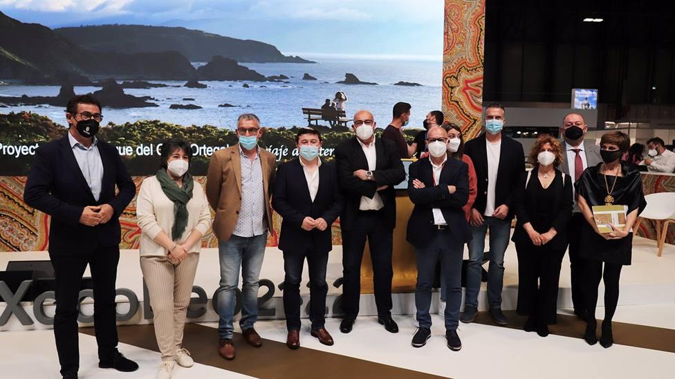 Participantes en la presentación del Xeoparque del Cabo Ortegal en Fitur, en Madrid - FOTO: Diputación