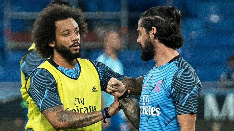 Isco y Marcelo, durante un partido de LaLiga Santander con el Real Madrid. CORDONPRESS