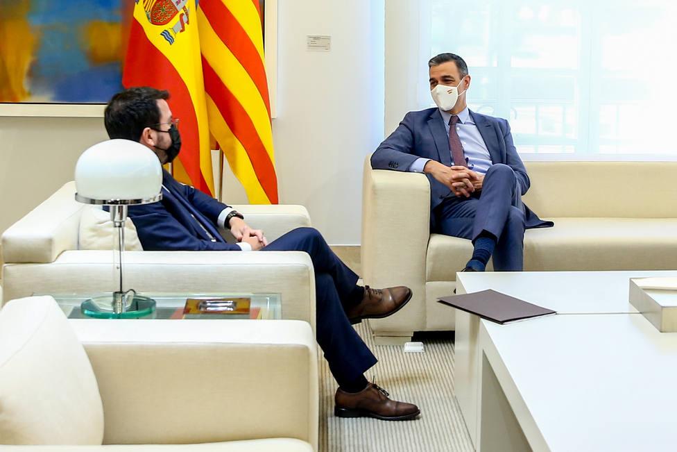 Pedro Sánchez y Pere Aragonès