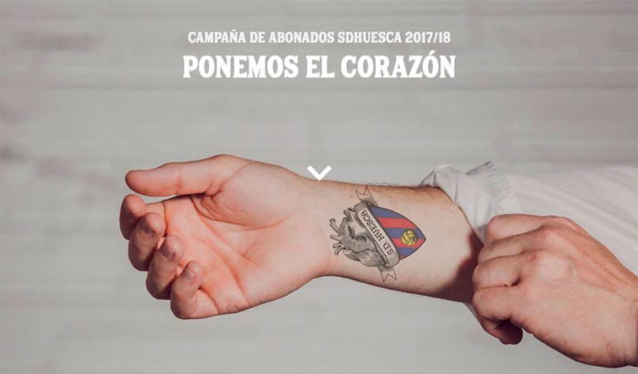Imagen de la campaña de abonados del Huesca