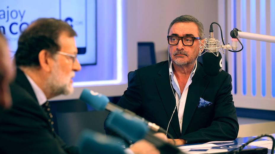 Mariano Rajoy durante la entrevista con Carlos Herrera