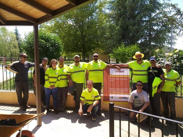 Alumnos trabajando en Santa Cilia