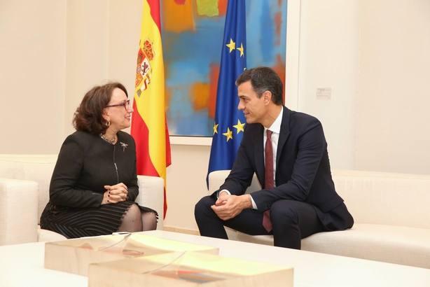 Sánchez traslada a Grynspan el firme compromiso de España con la comunidad iberoamericana