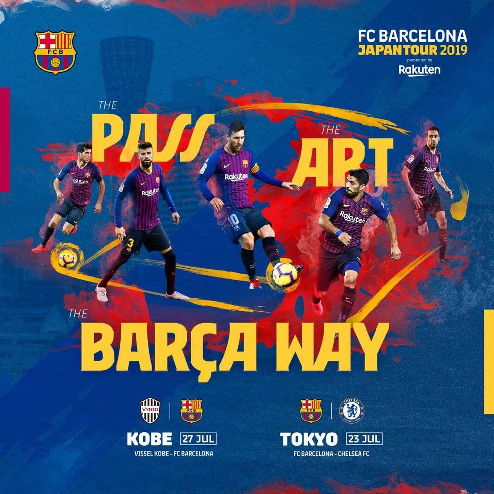 El Barça jugará en Japón frente al Chelsea y al Vissel Kobe