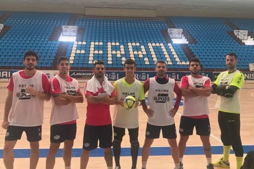 ElPozo Murcia FS se ha entrenado esta mañana en El Ferrol