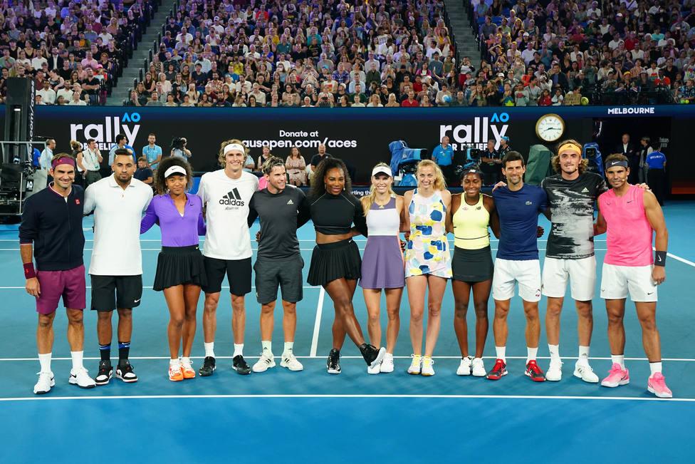 Las estrellas del tenis mundial recaudan tres millones de euros para paliar los incendios en Australia