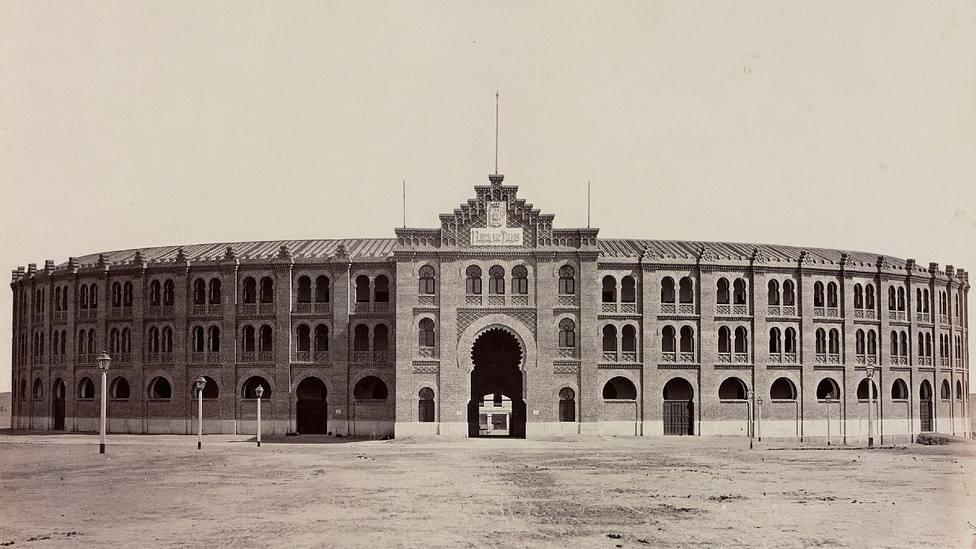 La antigua plaza de toros de Madrid, donde se celebró el último festejo taurino durante la gripe de 1918