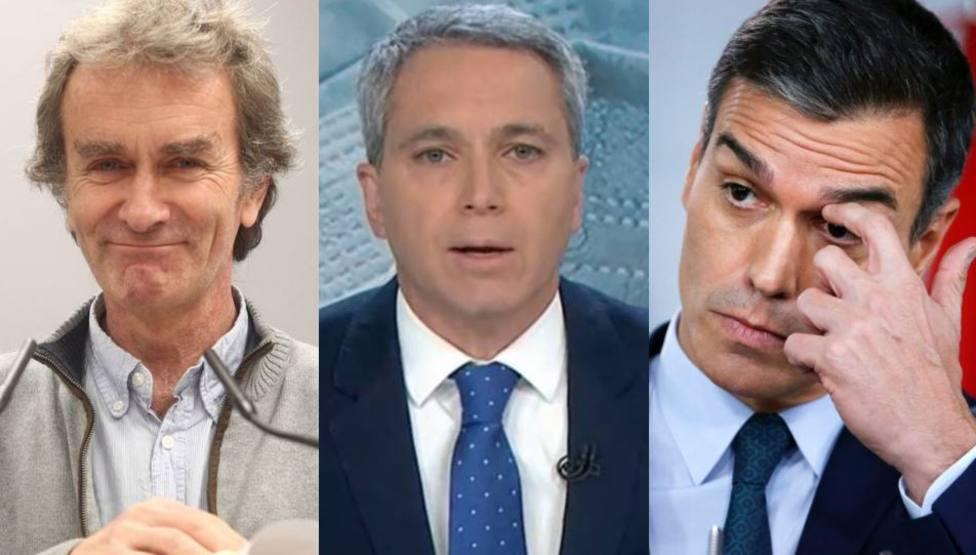 El repaso de Vicente Vallés a Sánchez y Fernando Simón por los últimos datos sobre el número de fallecidos