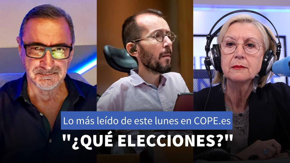 Las declaraciones de Echenique después del último fracaso de Podemos, entre lo más leído de este lunes