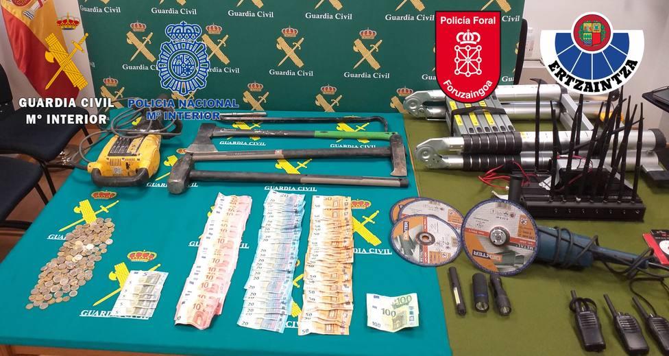 Desmantelado un grupo criminal itinerante que asaltaba empresas del norte mediante la técnica del brutón