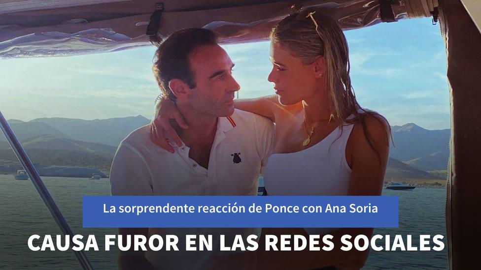 La sorprendente reacción de Enrique Ponce cuando Ana Soria iba a besarle que causa furor en las redes sociales