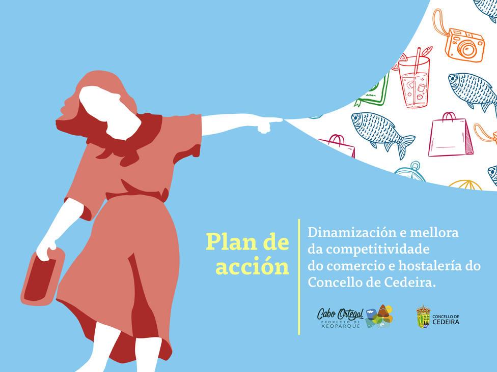 Cartel informativo del plan de Dinamización del Comercio y la Hostelería de Cedeira