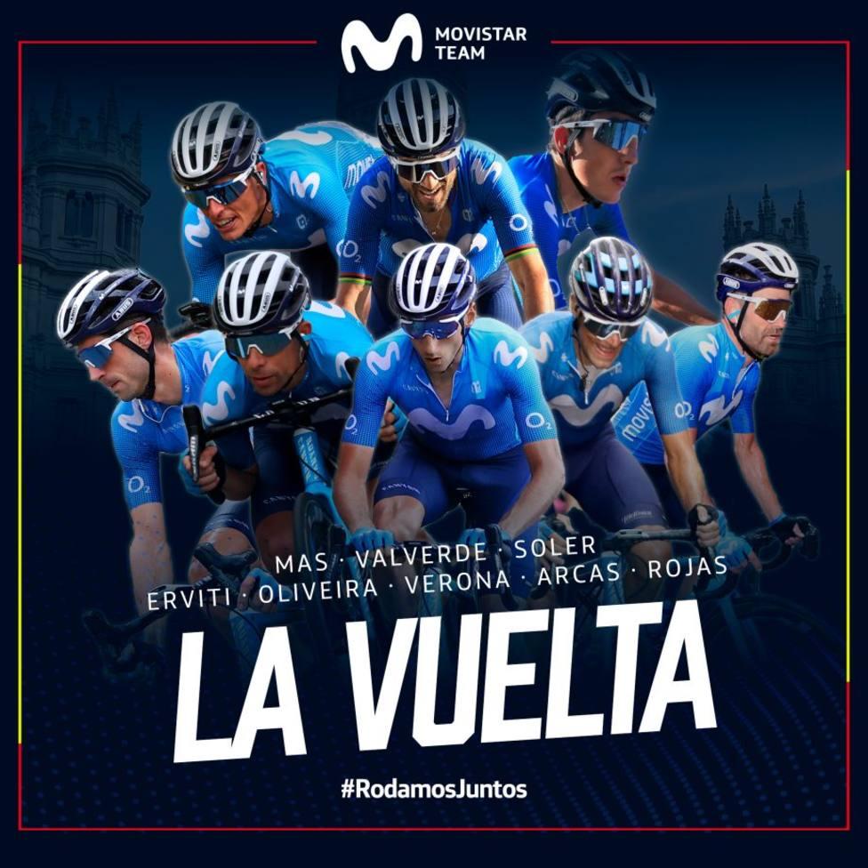Movistar Team presenta su ocho para La Vuelta con Alejandro Valverde, Enric Mas y Marc Soler