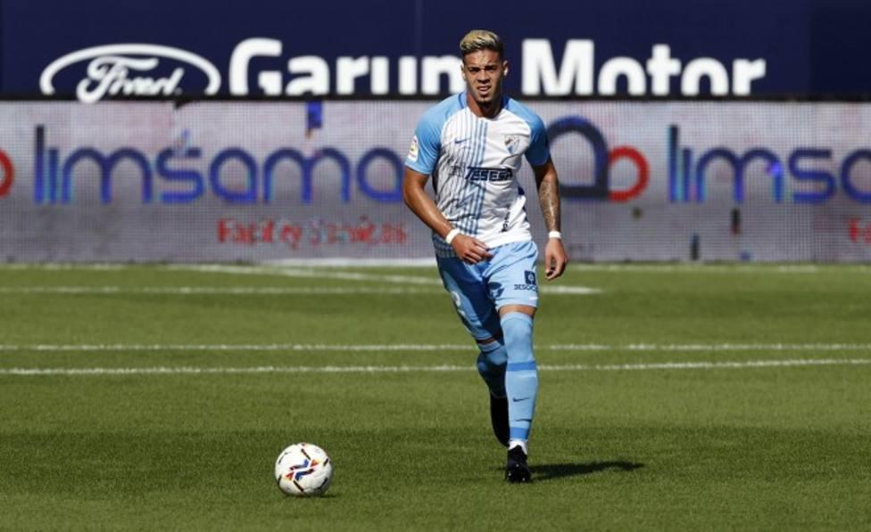 El defensa venezolano Josua Mejías se incorporó ya a los entrenamientos del Málaga.
