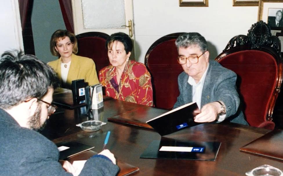 Fernando Miramontes, a la derecha, en su etapa como primer teniente del alcalde de Ferrol