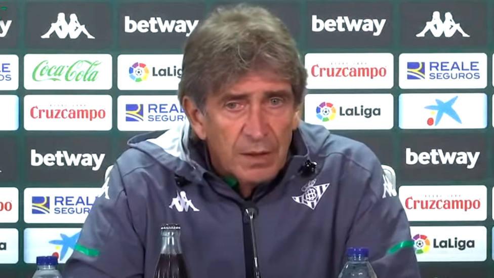 Manuel Pellegrini, entrenador del Real Betis, en rueda de prensa