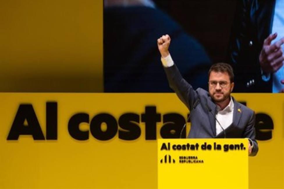 El candidato a la presidencia de la Generalidad de Cataluña, Pere Aragonés