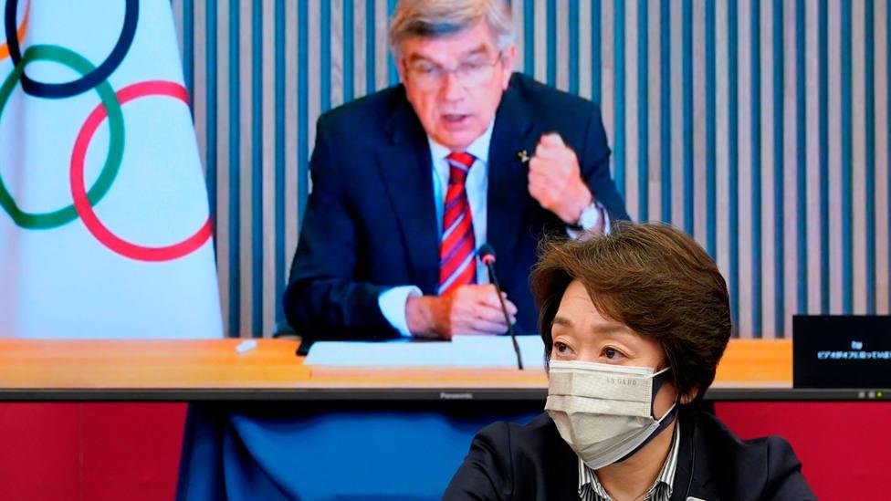 Reunión de los dirigentes de los Juegos Olímpicos de Tokio, para aprobar nuevas medidas. EFE