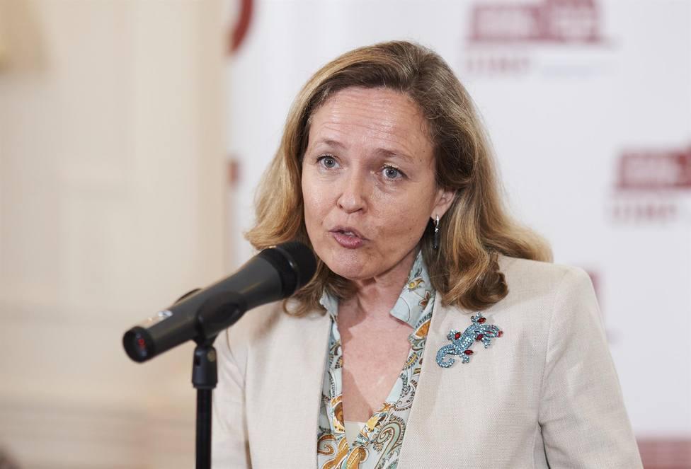 La vicepresidenta segunda del Gobiern, Nadia Calviño