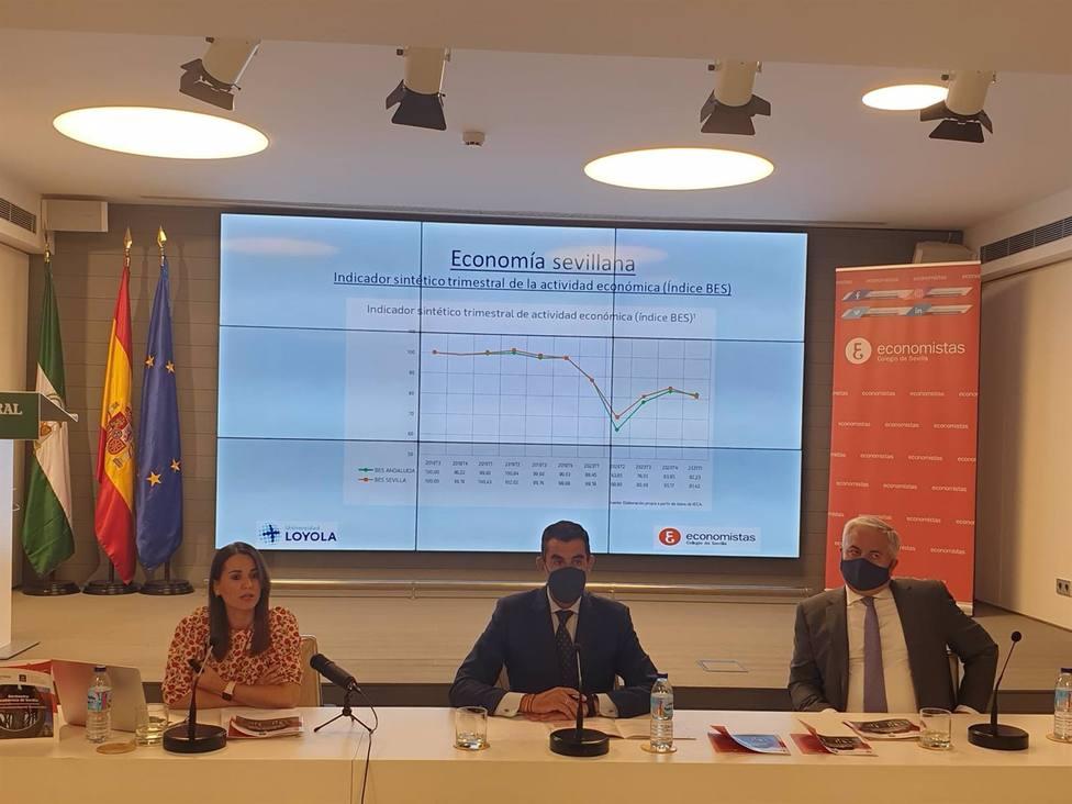 Sevilla.-El Colegio de Economistas estima una subida del PIB del 5,3% y un paro del 23,1% en 2021 en la provincia