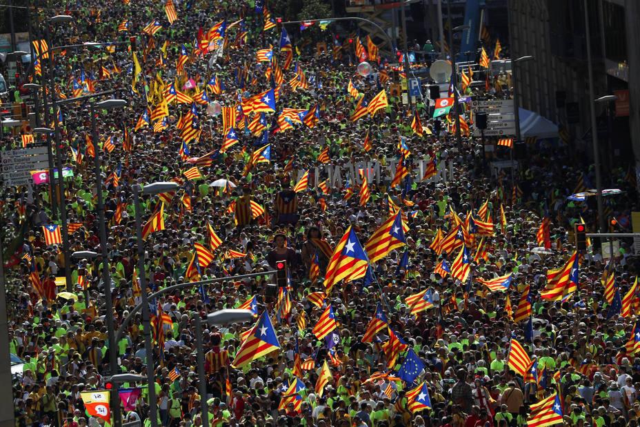 Diada independentista a la baja: cada vez menos asistentes