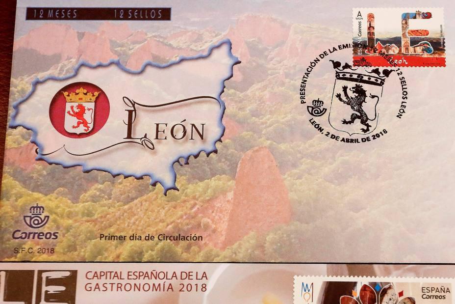 Sello de Correos dedicado a León