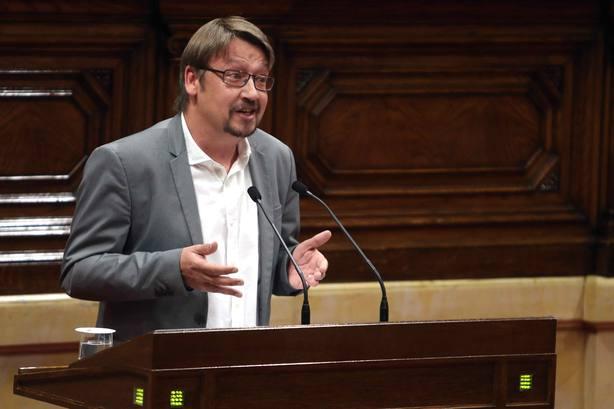 El presidente del grupo parlamentario de Cataluña en Comú Podem, Xavier Domènech