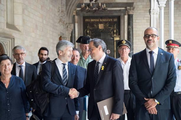 LA JUNTA DE SEGURIDAD DE CATALUÑA SE REÚNE EN EL PALAU DE LA GENERALIAT