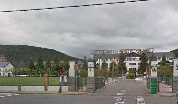El lugar donde se encuentra el helipuerto de Jaca en la Escuela de Montaña