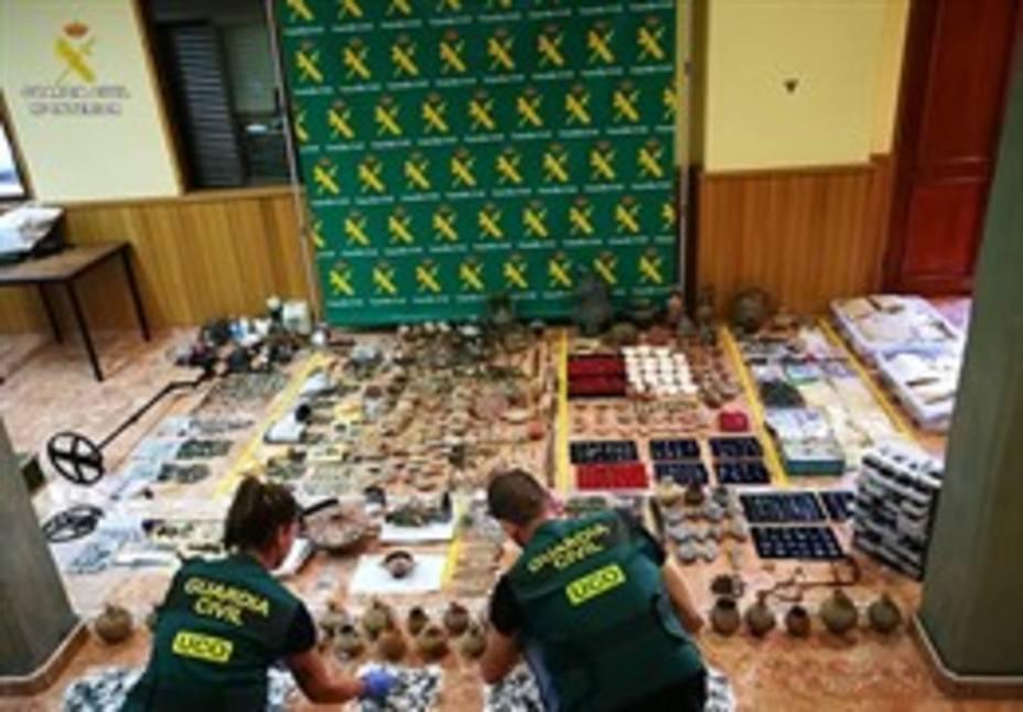 Cuatro detenidos en la Región de una red criminal acusada de expolio y falsificación de material arqueológico