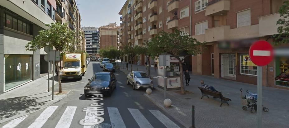 La agresión se produjo en la calle Pintor Sorolla de Castellón de la Plana