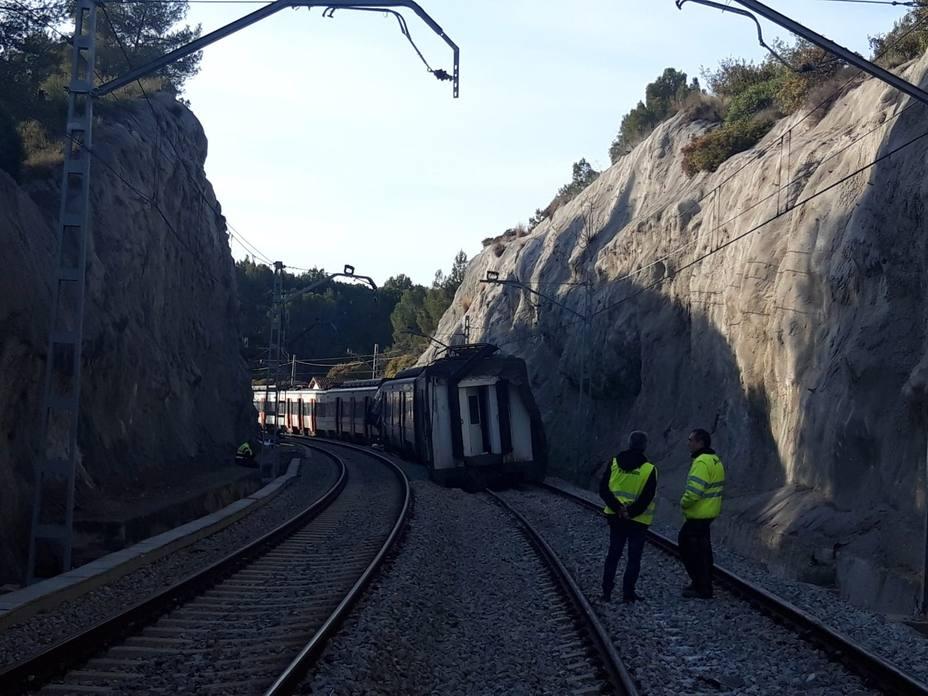 Culmina la retirada de trenes en Castellgalí (Barcelona) y se restaura la circulación el martes