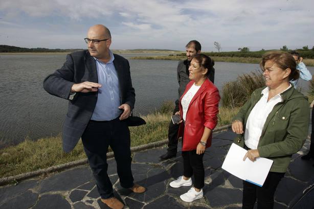 Visita de la anterior conselleira de Medio Ambiente, Bea Mato, a Valdoviño
