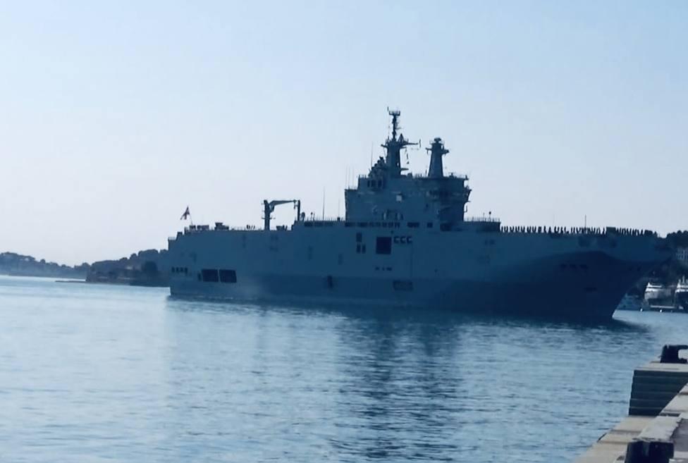 Un portahelicópteros egipicio atrcará en La Curra con más de 500 marineros